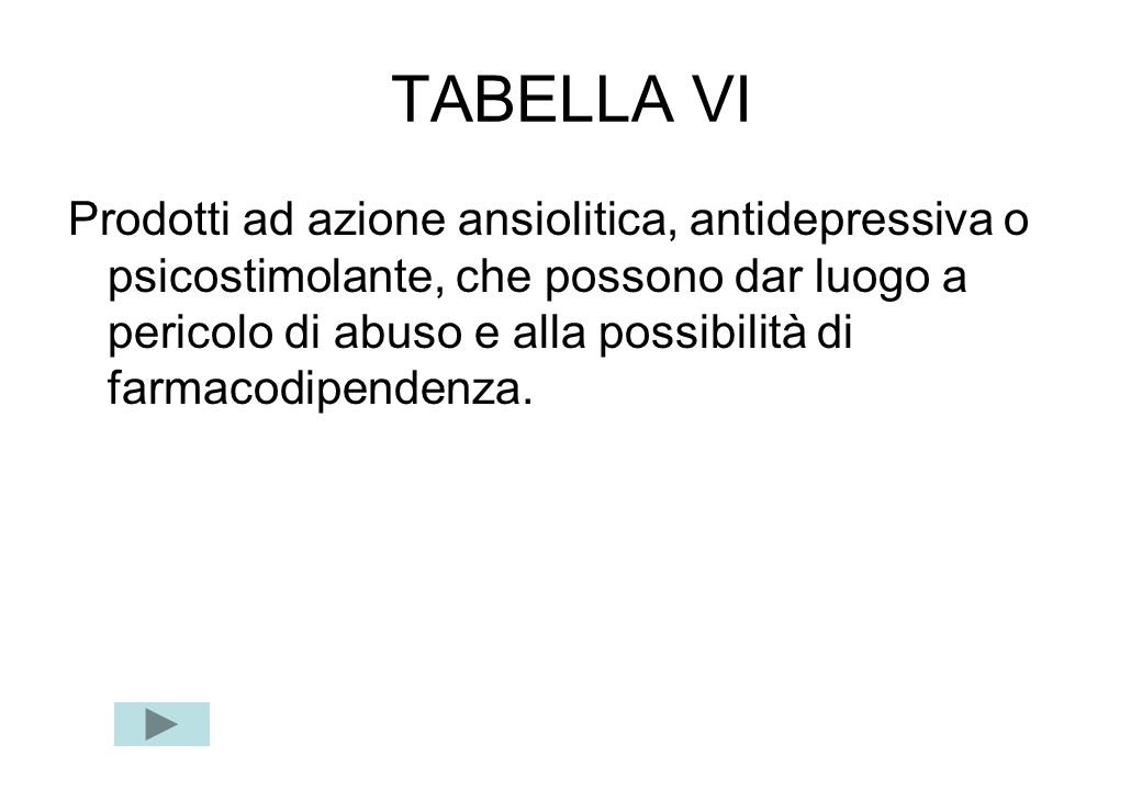 TABELLA VI