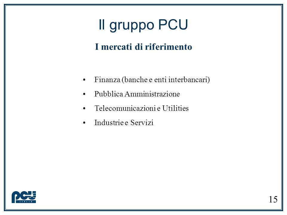 Il gruppo PCU I mercati di riferimento