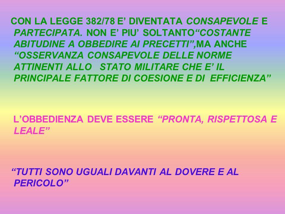 CON LA LEGGE 382/78 E' DIVENTATA CONSAPEVOLE E PARTECIPATA