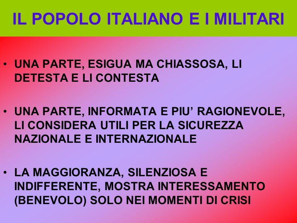 IL POPOLO ITALIANO E I MILITARI