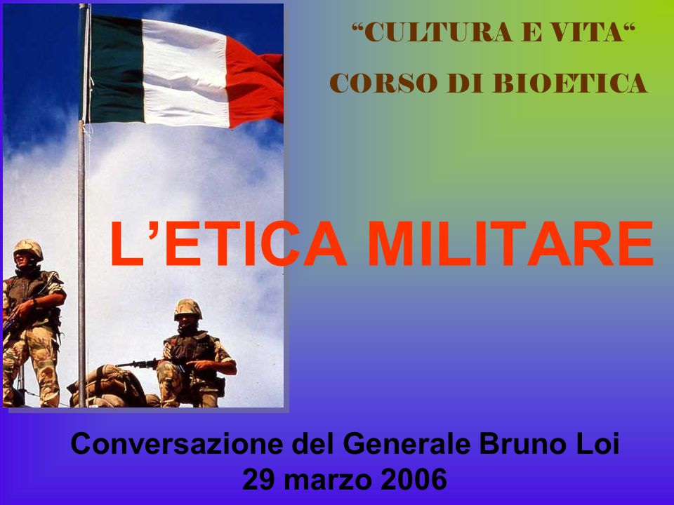 Conversazione del Generale Bruno Loi