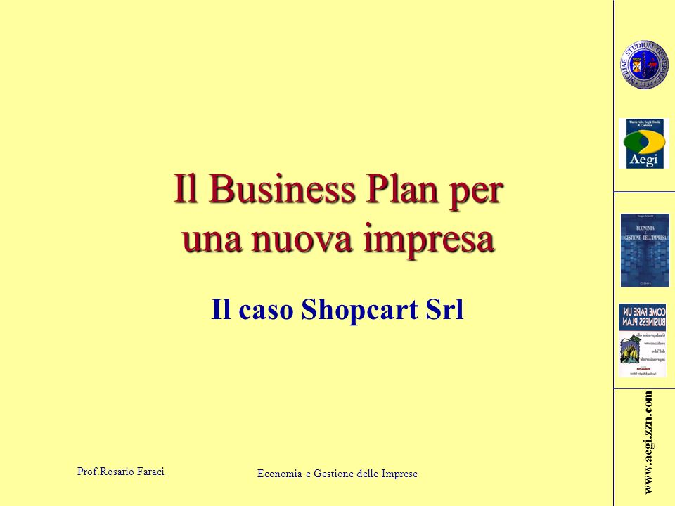 Il Business Plan per una nuova impresa