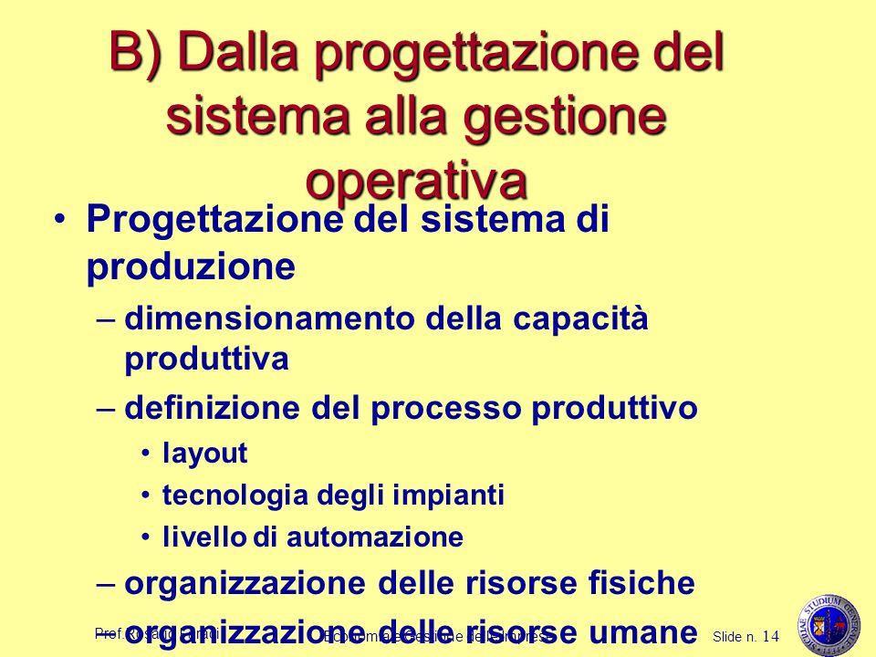 B) Dalla progettazione del sistema alla gestione operativa