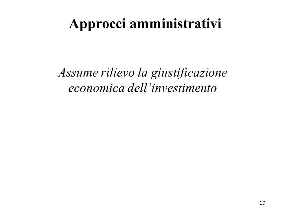 Approcci amministrativi