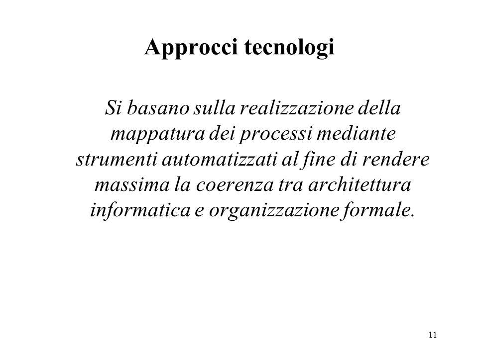Approcci tecnologi