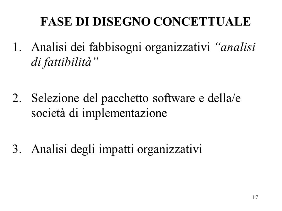 FASE DI DISEGNO CONCETTUALE
