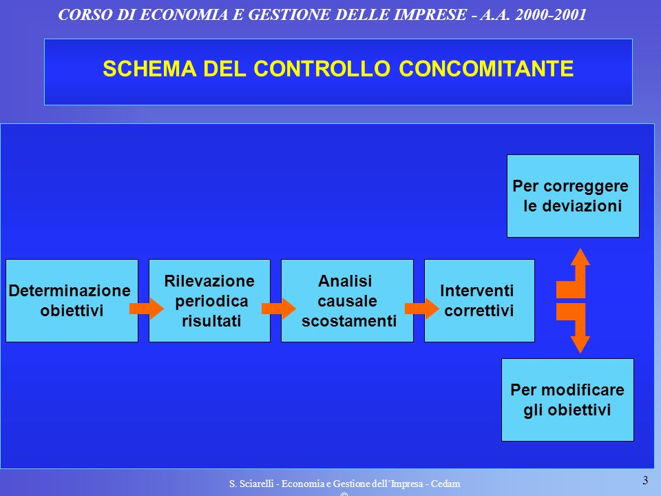 SCHEMA DEL CONTROLLO CONCOMITANTE