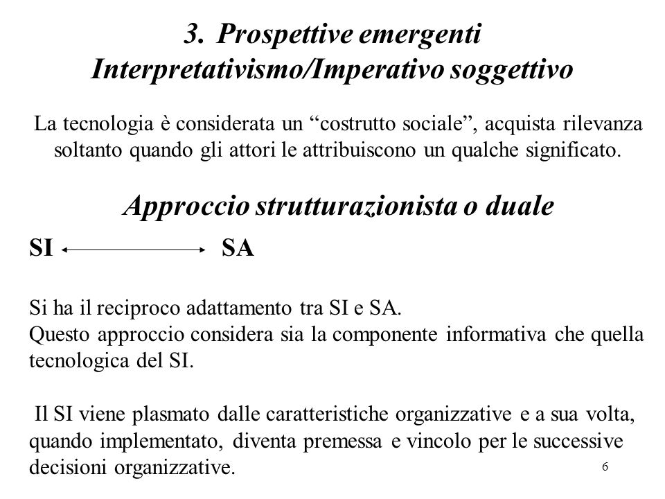 Interpretativismo/Imperativo soggettivo