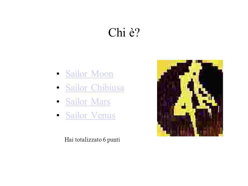 Chi è Sailor Moon Sailor Chibiusa Sailor Mars Sailor Venus