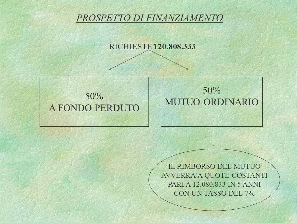 PROSPETTO DI FINANZIAMENTO