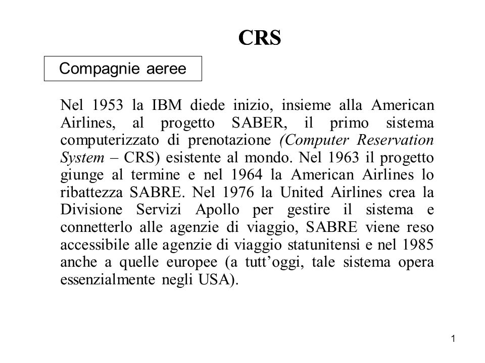 CRS CRS Compagnie aeree