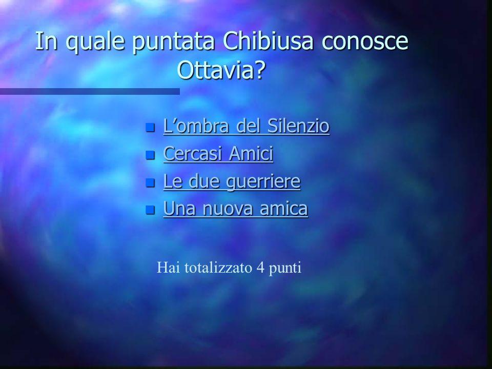 In quale puntata Chibiusa conosce Ottavia