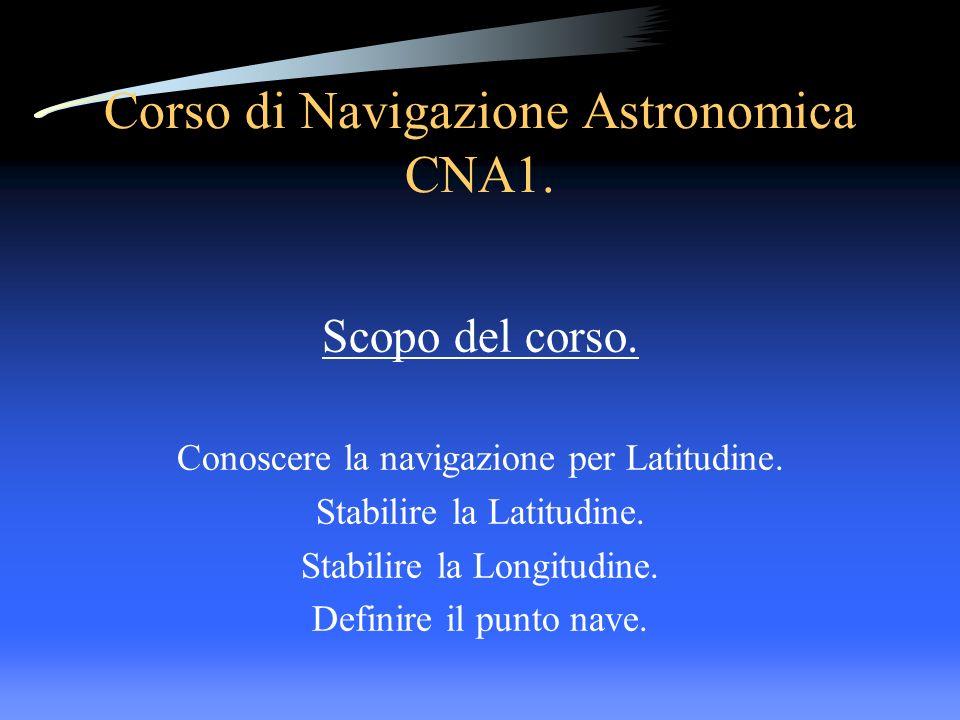 Corso di Navigazione Astronomica CNA1.