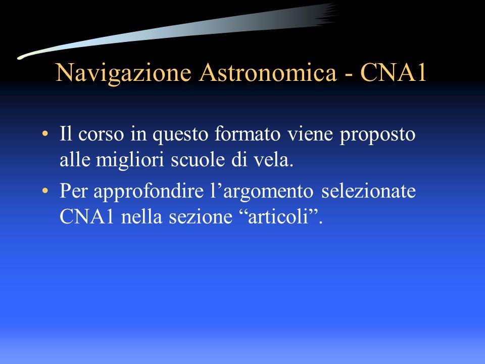 Navigazione Astronomica - CNA1