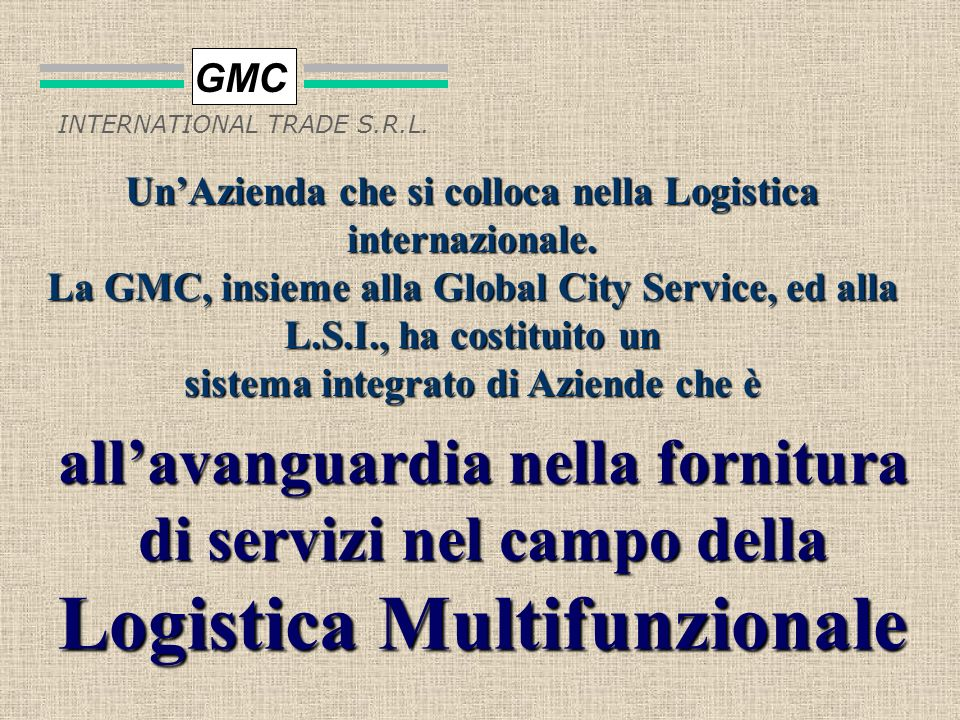 Logistica Multifunzionale