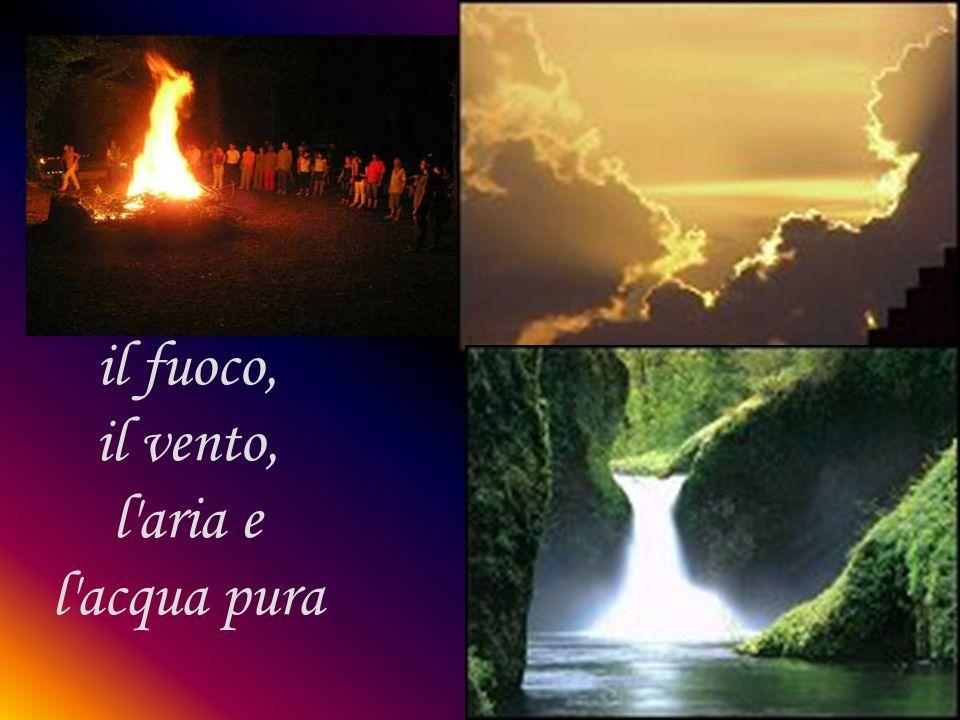 il fuoco, il vento, l aria e l acqua pura