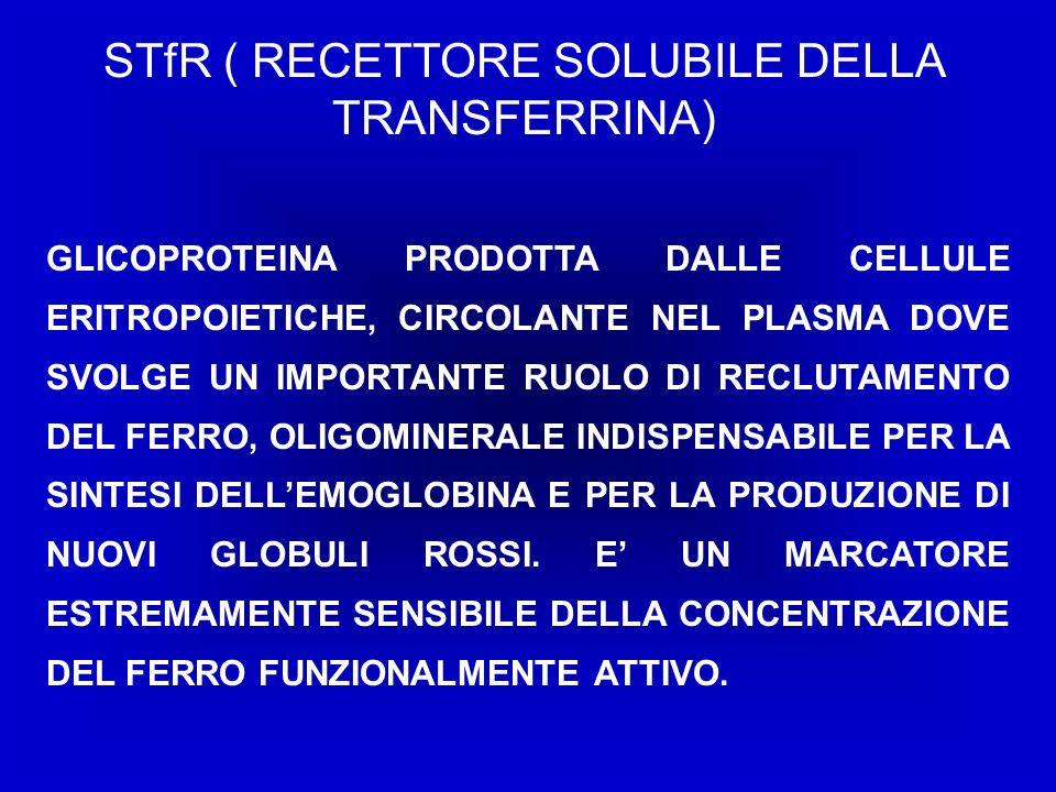 STfR ( RECETTORE SOLUBILE DELLA TRANSFERRINA)