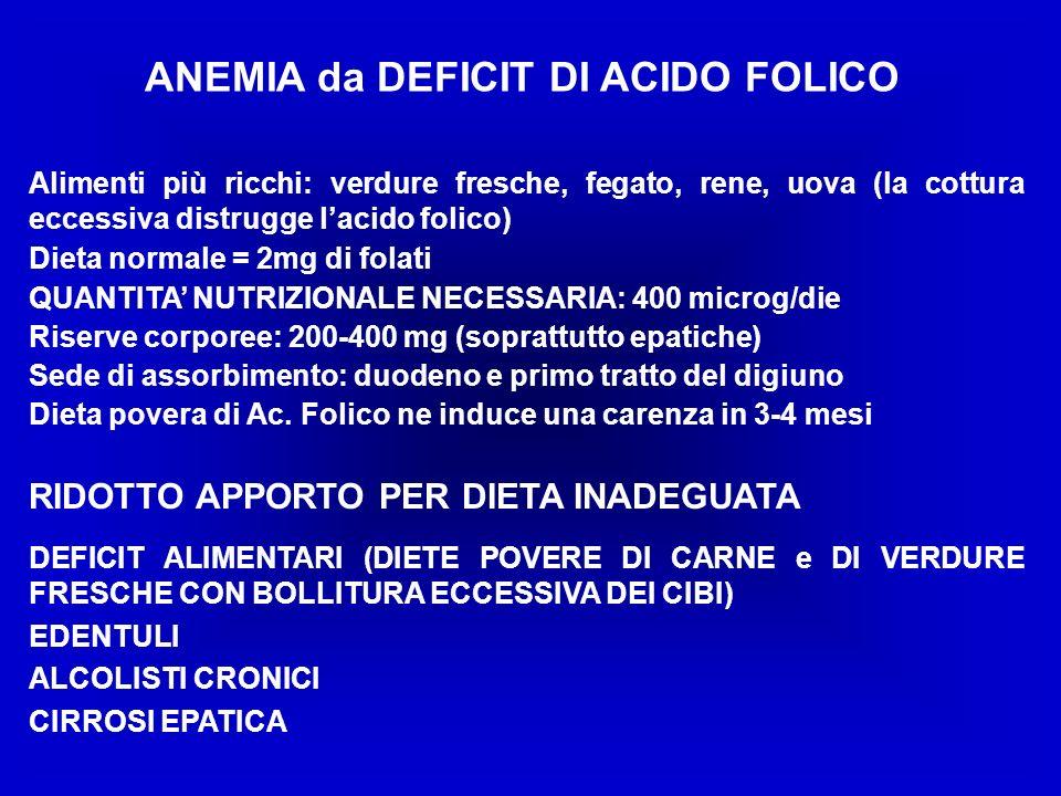 ANEMIA da DEFICIT DI ACIDO FOLICO