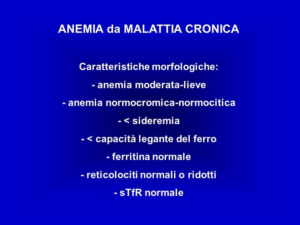 ANEMIA da MALATTIA CRONICA