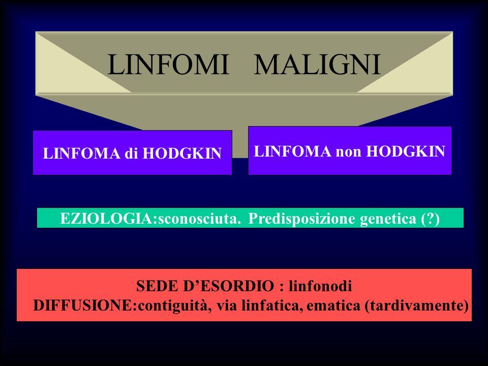 LINFOMI MALIGNI LINFOMA non HODGKIN LINFOMA di HODGKIN
