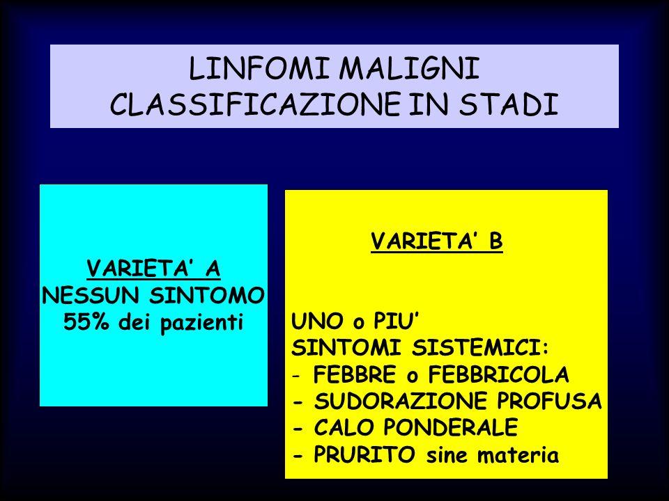 LINFOMI MALIGNI CLASSIFICAZIONE IN STADI