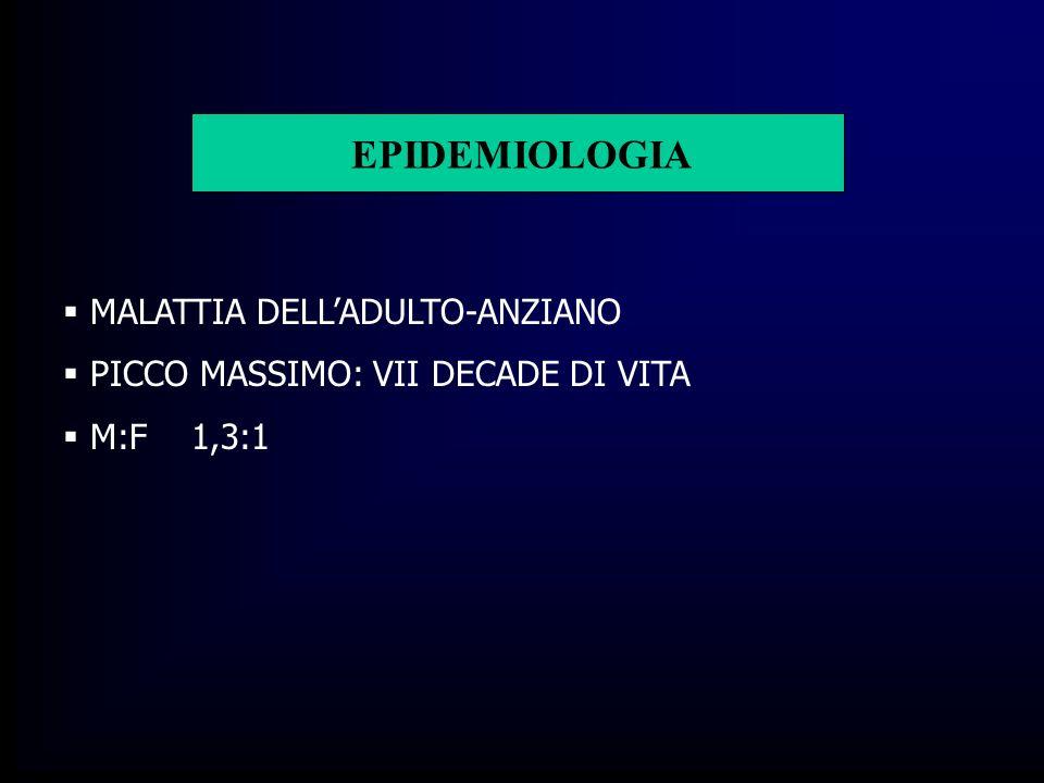 EPIDEMIOLOGIA MALATTIA DELL'ADULTO-ANZIANO