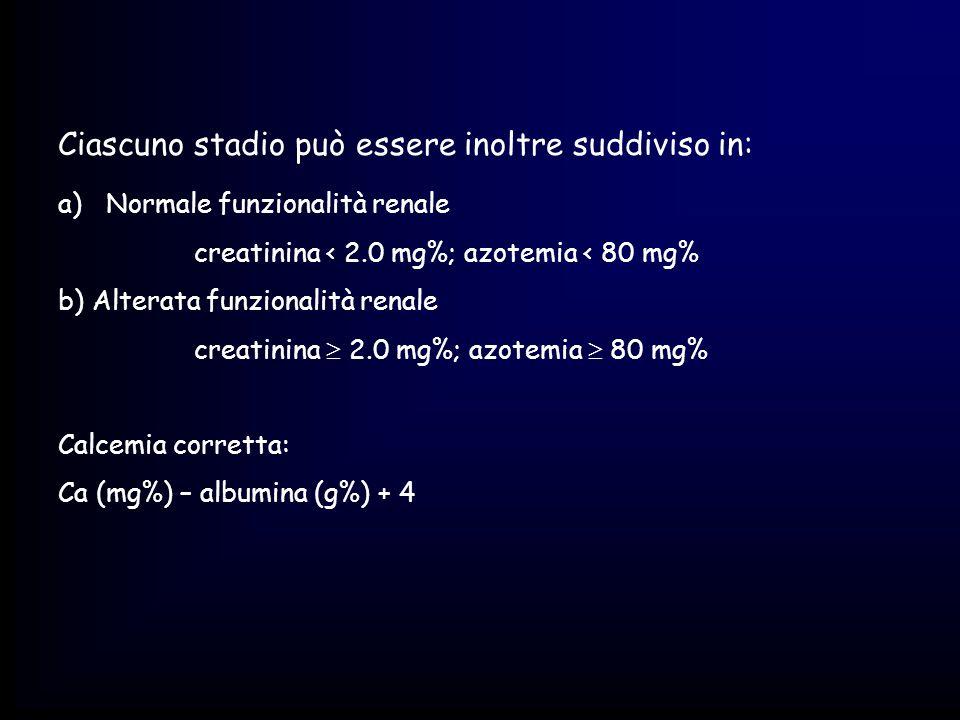 Ciascuno stadio può essere inoltre suddiviso in: