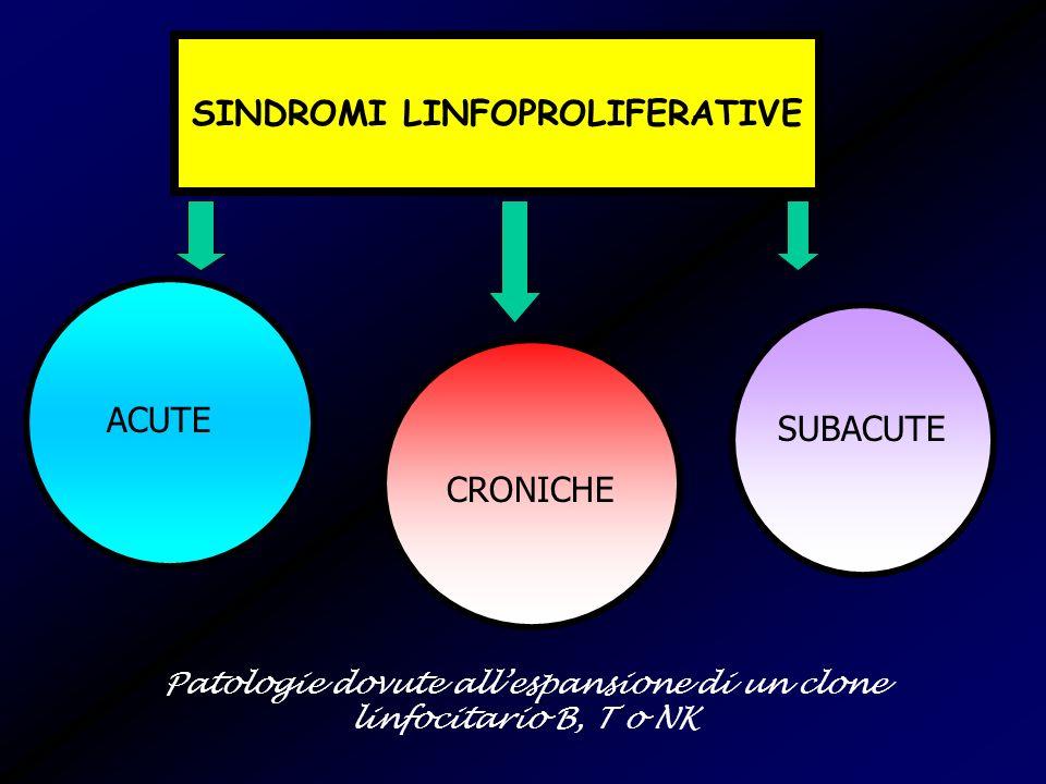 SINDROMI LINFOPROLIFERATIVE