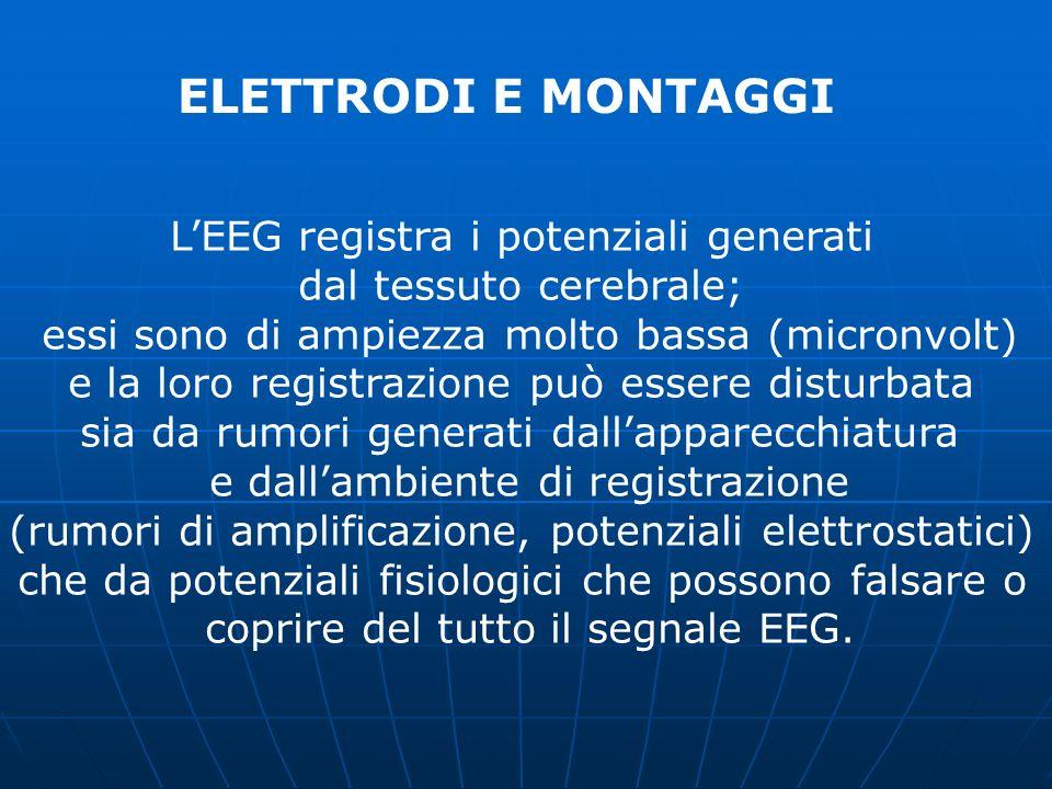 ELETTRODI E MONTAGGI L'EEG registra i potenziali generati