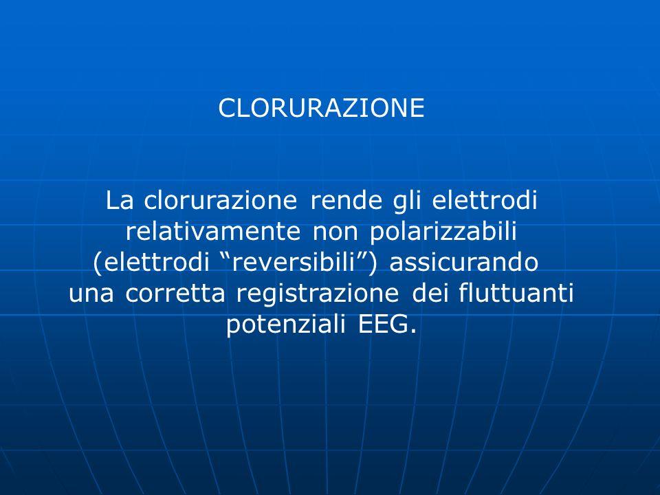 La clorurazione rende gli elettrodi relativamente non polarizzabili