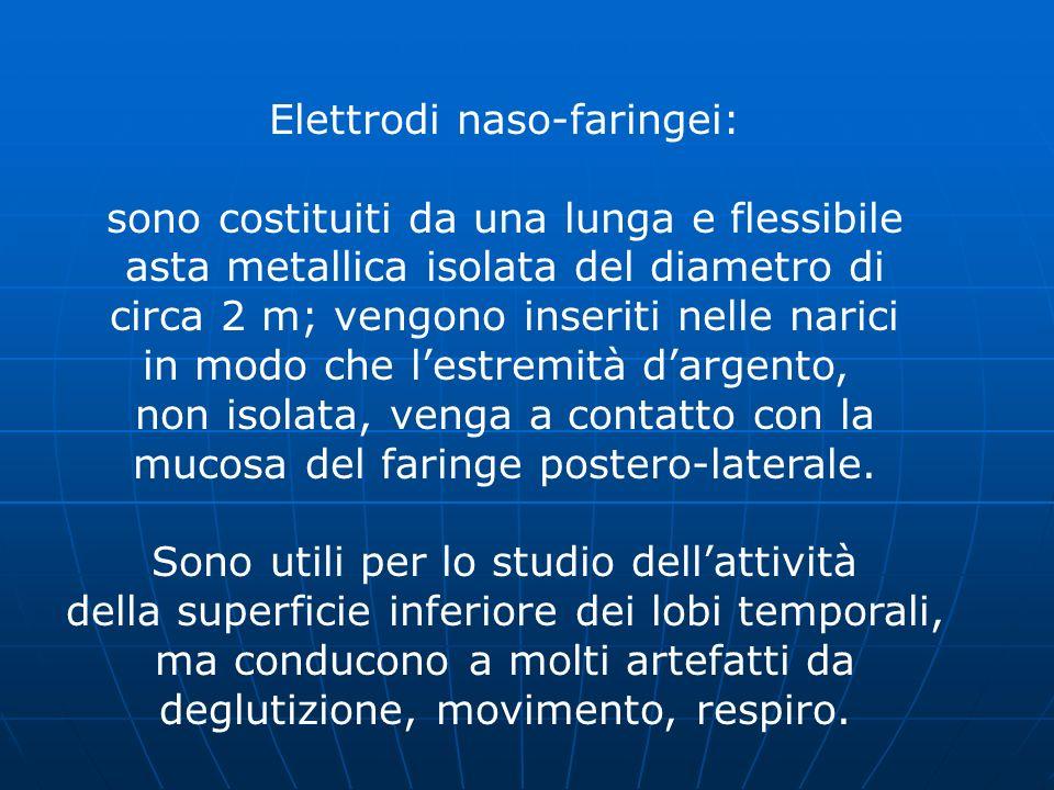 Elettrodi naso-faringei: sono costituiti da una lunga e flessibile
