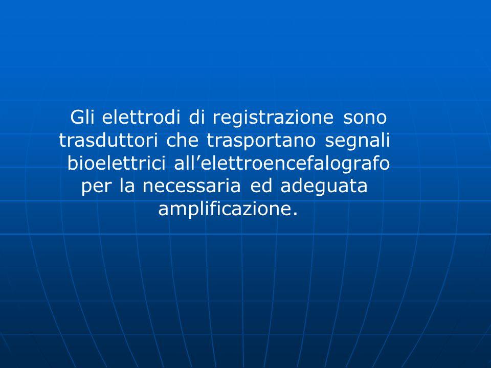 Gli elettrodi di registrazione sono