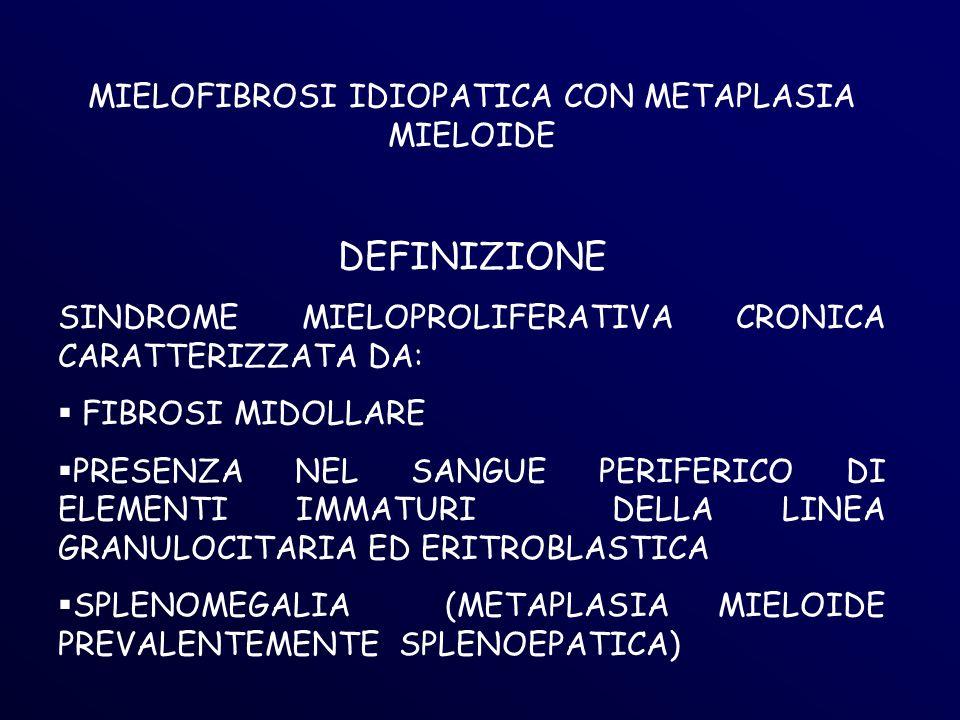 MIELOFIBROSI IDIOPATICA CON METAPLASIA MIELOIDE
