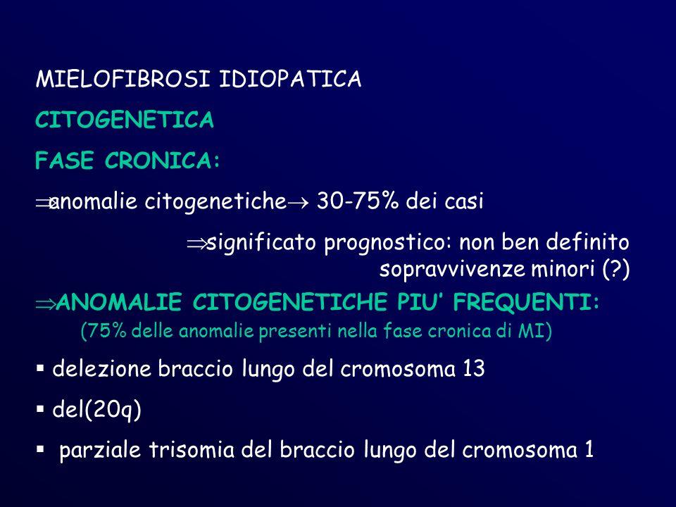 MIELOFIBROSI IDIOPATICA CITOGENETICA FASE CRONICA: