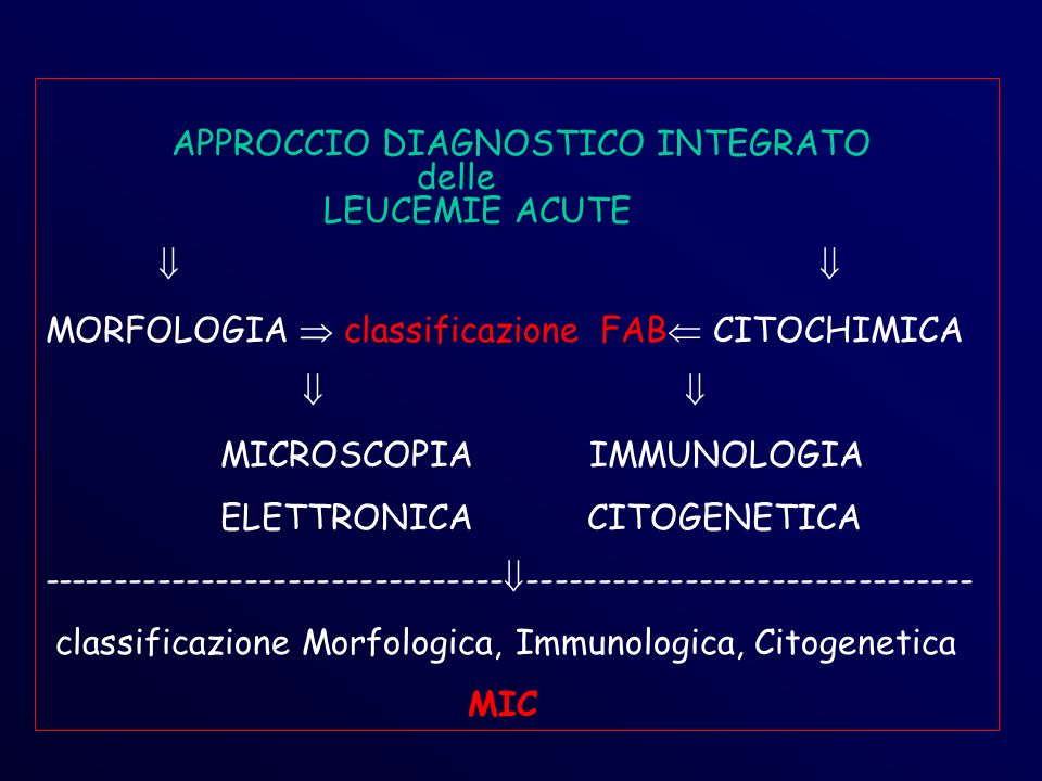 APPROCCIO DIAGNOSTICO INTEGRATO