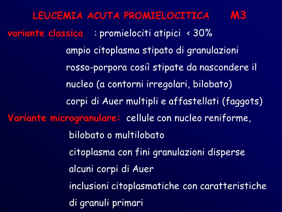 LEUCEMIA ACUTA PROMIELOCITICA M3