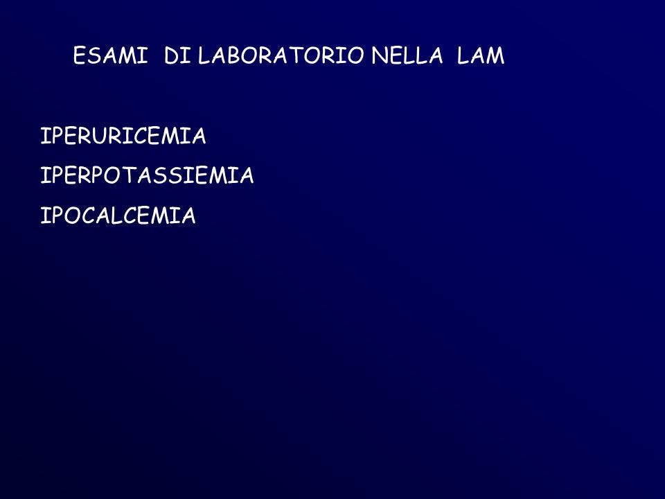 ESAMI DI LABORATORIO NELLA LAM