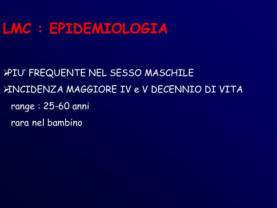 LMC : EPIDEMIOLOGIA PIU' FREQUENTE NEL SESSO MASCHILE