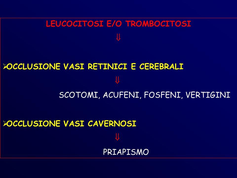 LEUCOCITOSI E/O TROMBOCITOSI