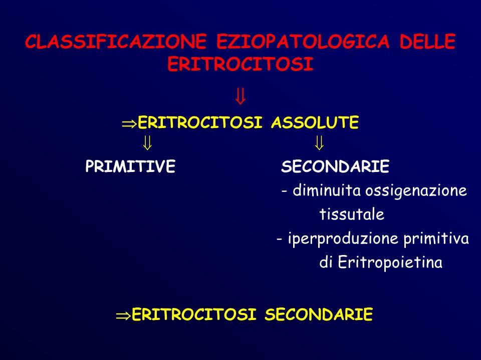 CLASSIFICAZIONE EZIOPATOLOGICA DELLE ERITROCITOSI 