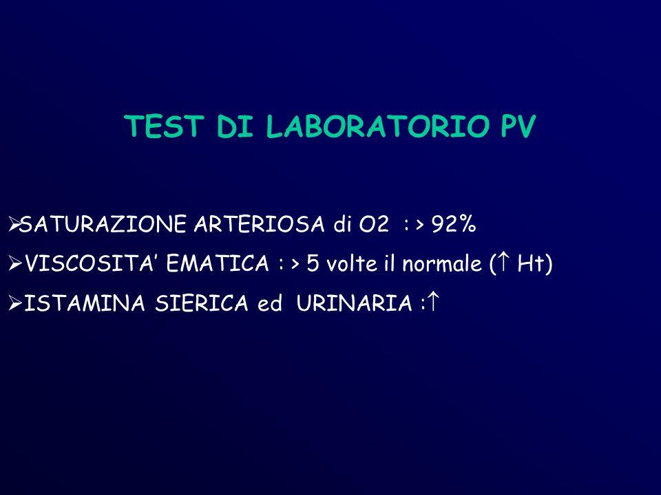 TEST DI LABORATORIO PV SATURAZIONE ARTERIOSA di O2 : > 92%