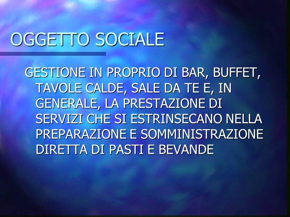 OGGETTO SOCIALE