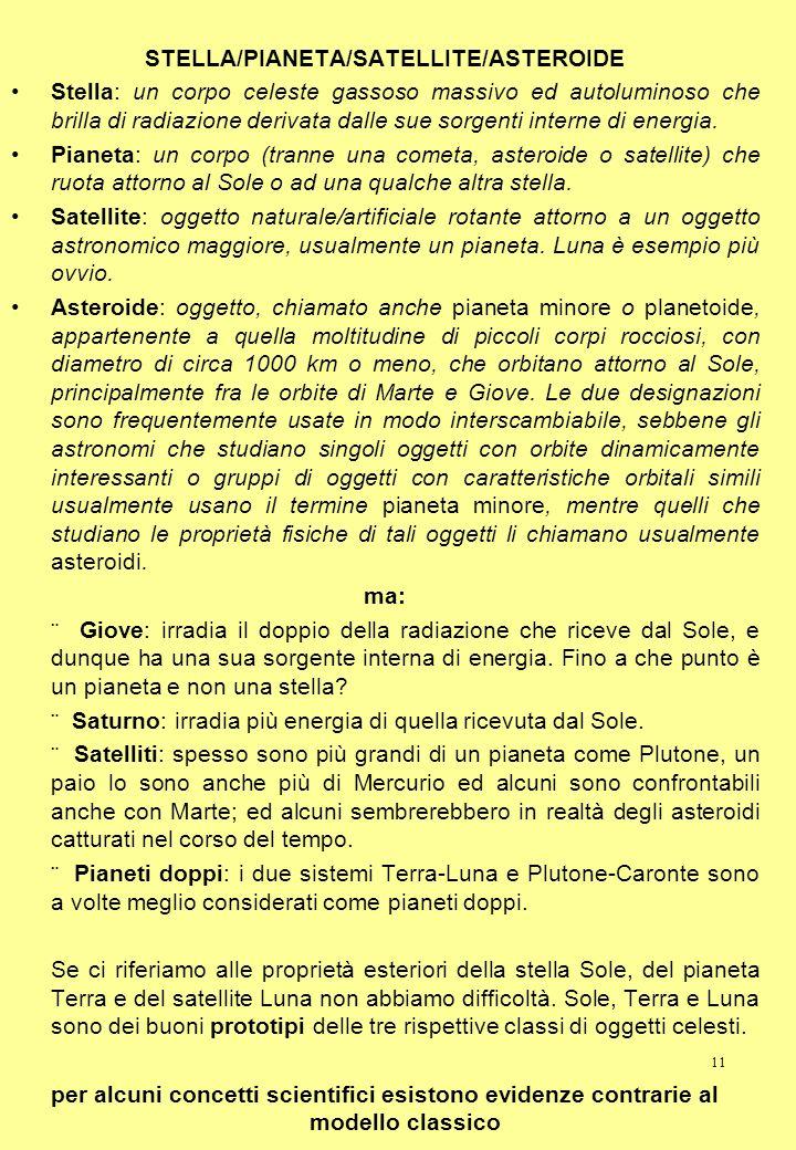 STELLA/PIANETA/SATELLITE/ASTEROIDE