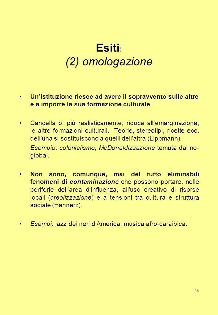 Esiti: (2) omologazione