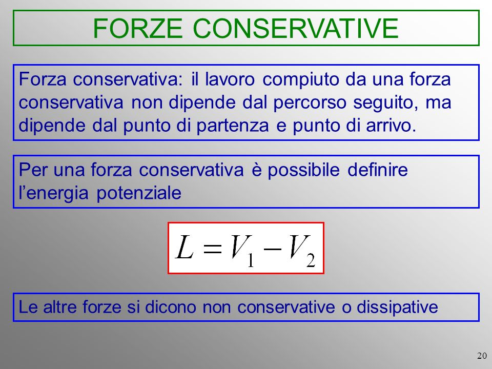FORZE CONSERVATIVE