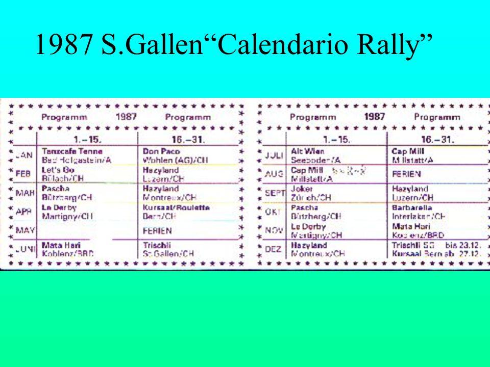 1987 S.Gallen Calendario Rally
