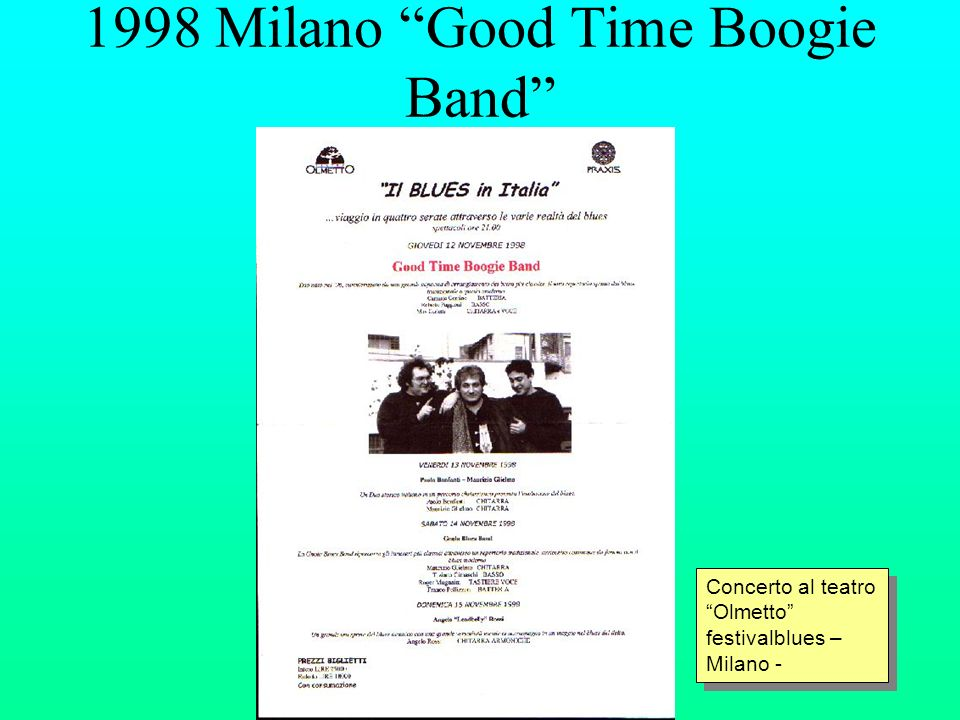1998 Milano Good Time Boogie Band