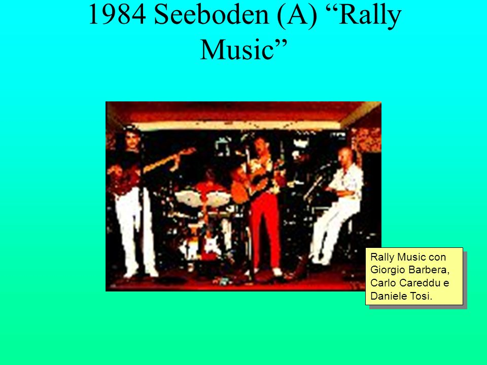 1984 Seeboden (A) Rally Music