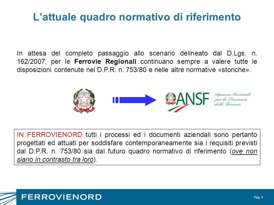 L'attuale quadro normativo di riferimento