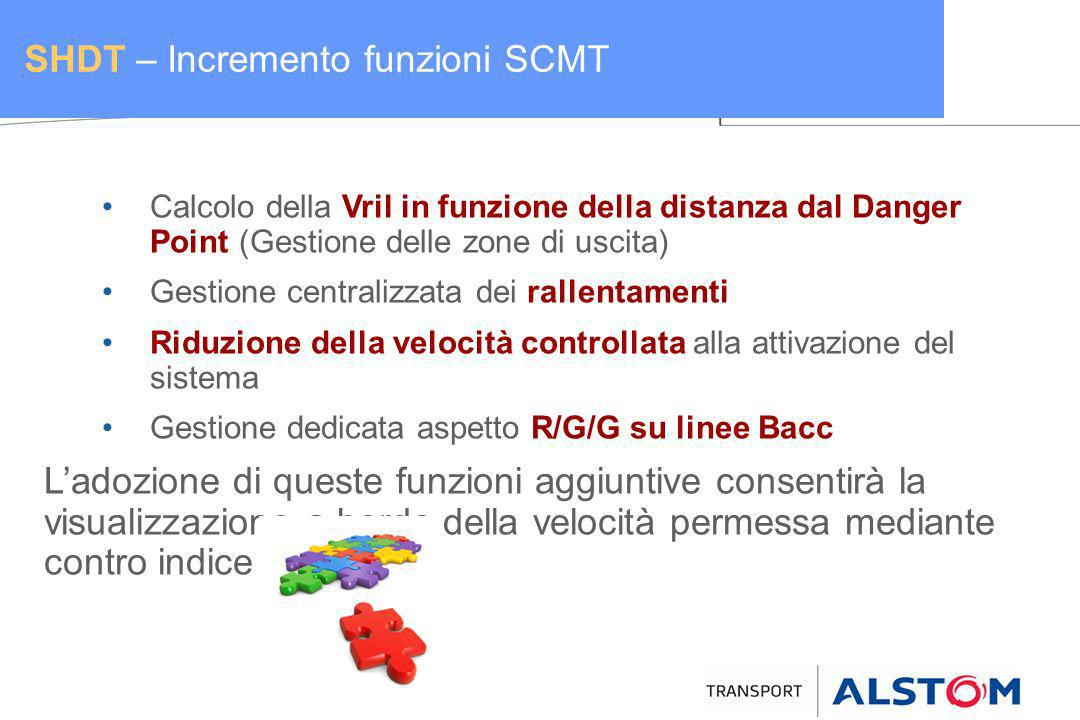 SHDT – Incremento funzioni SCMT